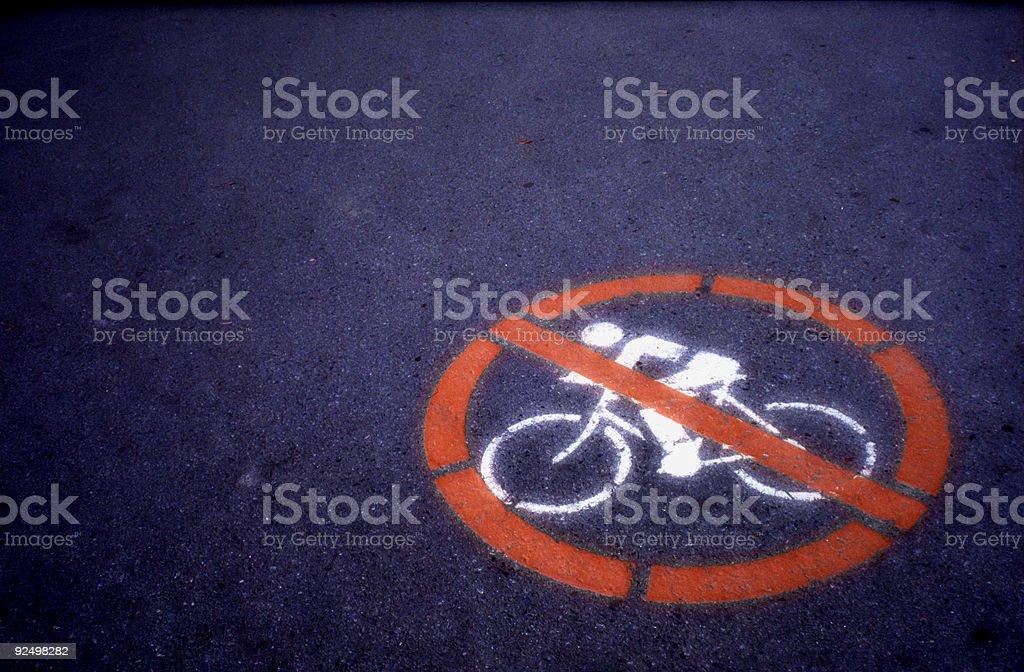 No Cycling! royalty-free stock photo