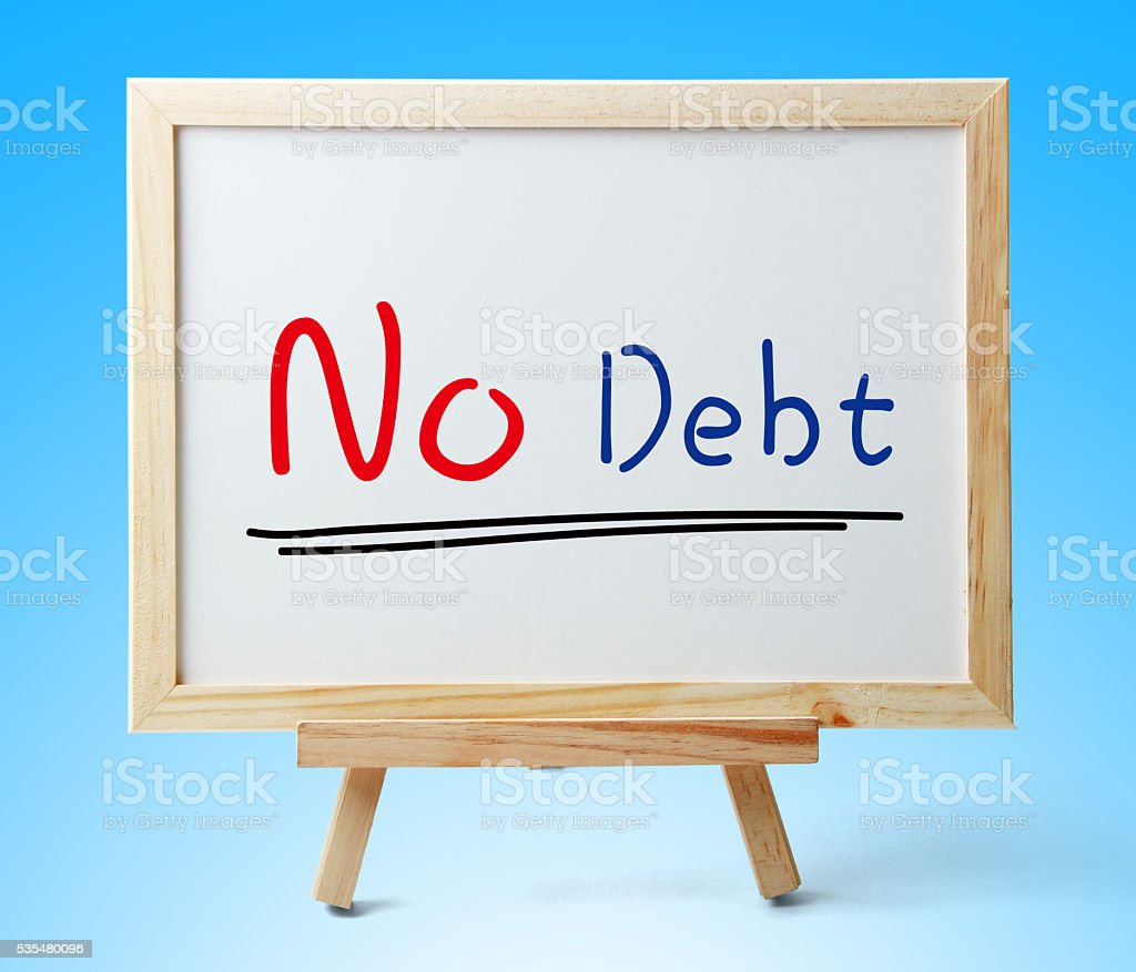 No Debt stock photo