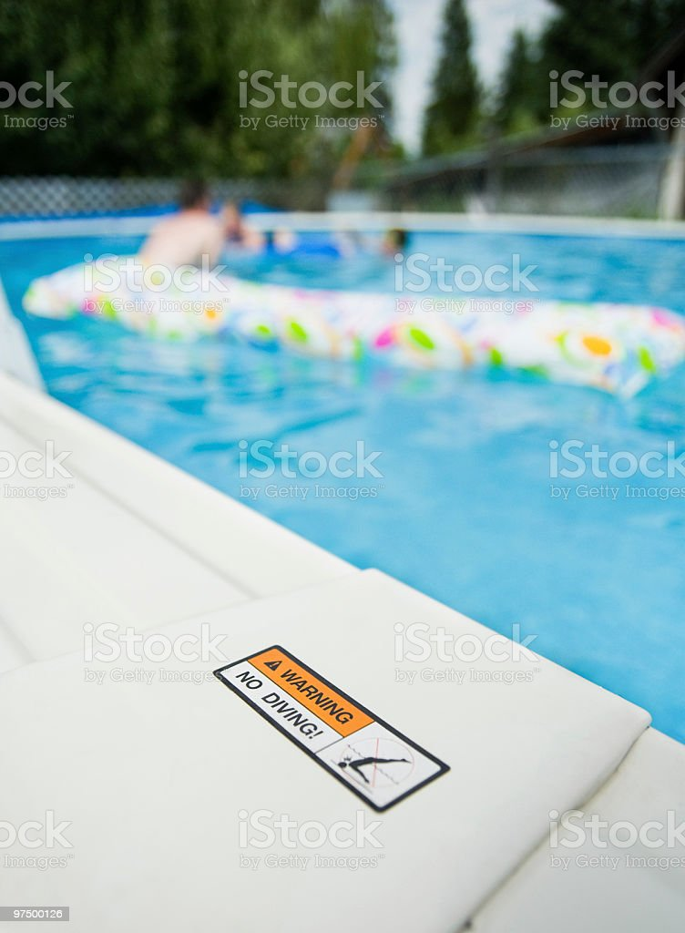No Diving Allowed royalty-free stock photo