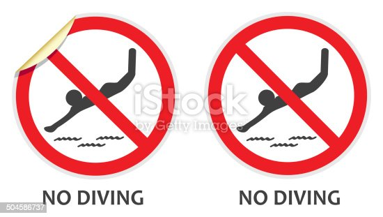 istock No Diving Sign 504586737