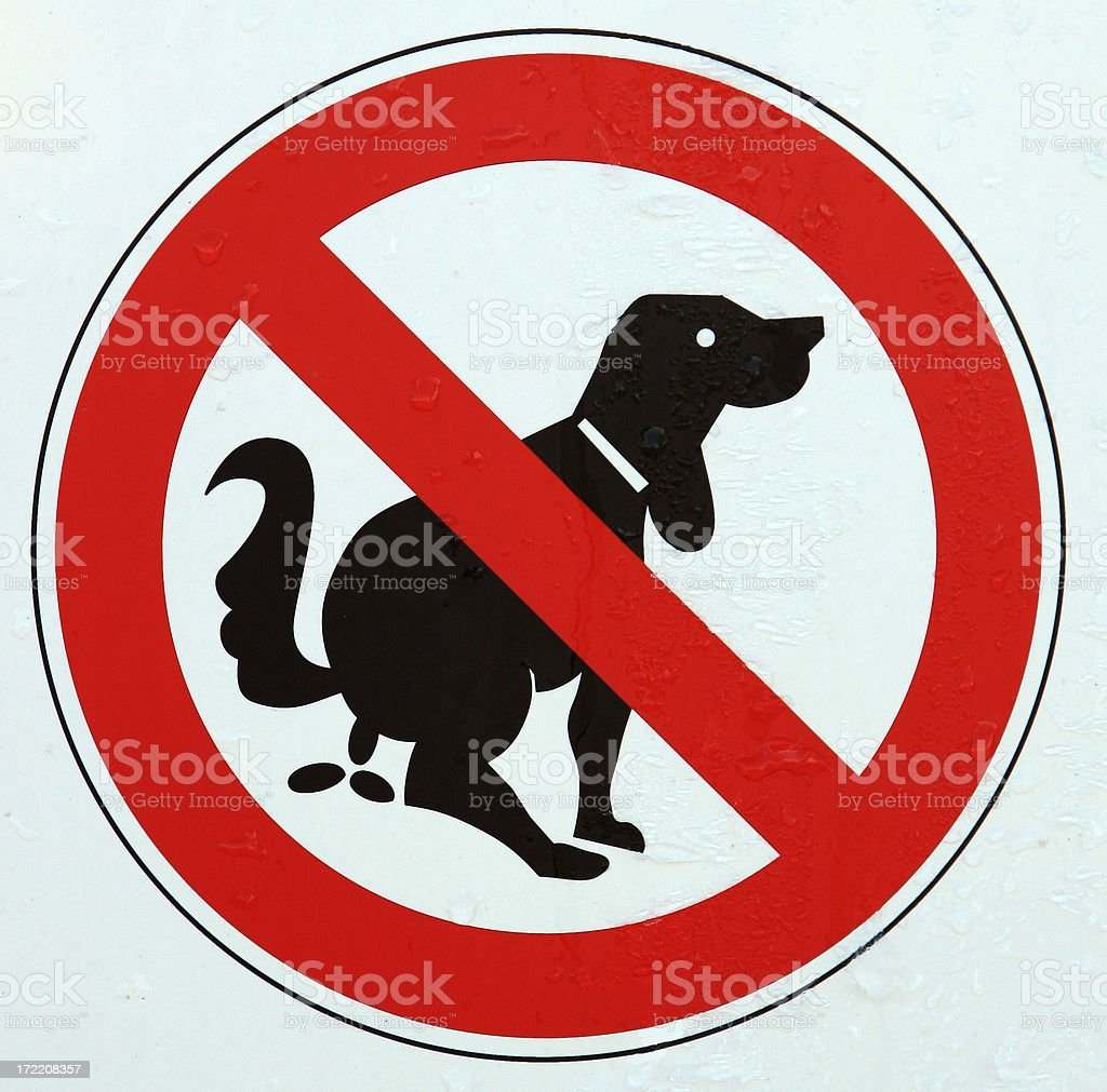 No dog excrement royalty-free stock photo