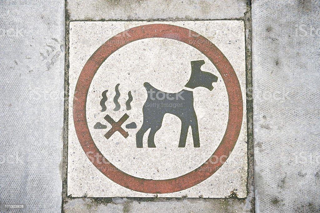 No Dog Poo Sign stock photo