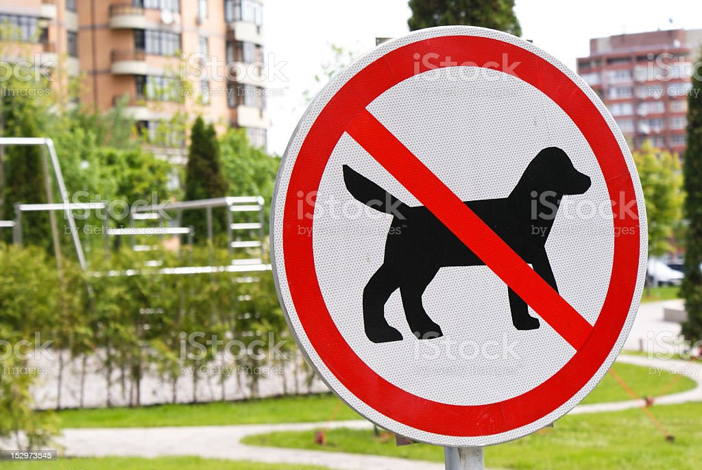 No dogs allowed sign royalty-free stock photo
