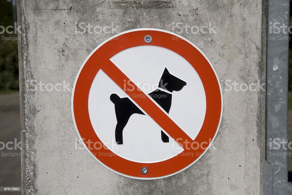 No Dogs royalty-free stock photo