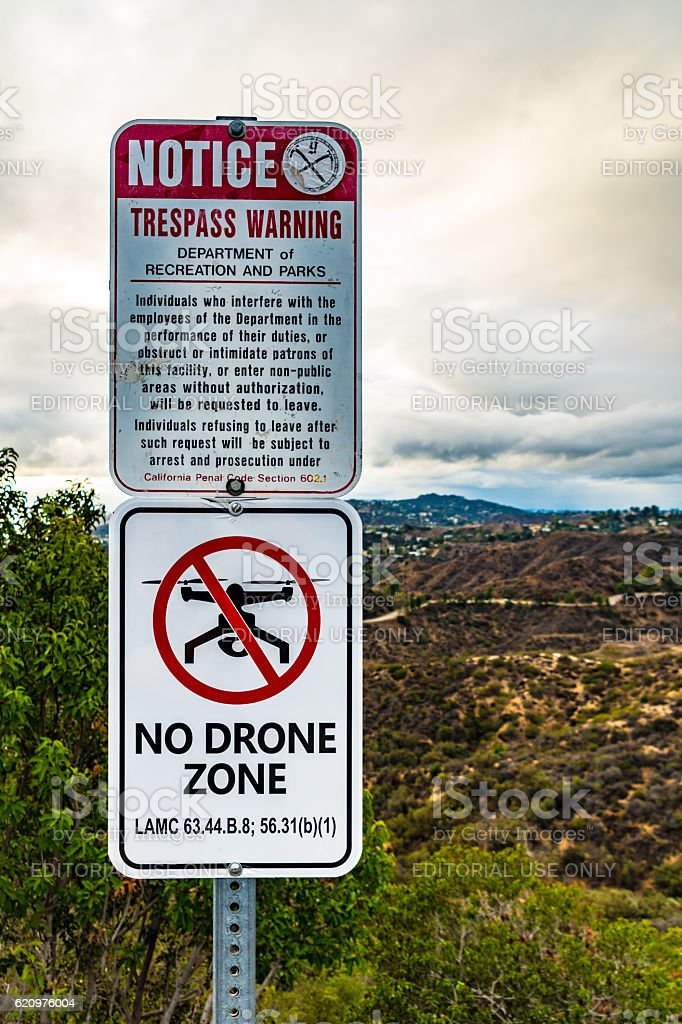 No Drone Zone Sign stock photo