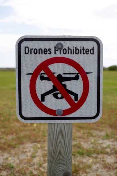 No Drones Sign stock photo
