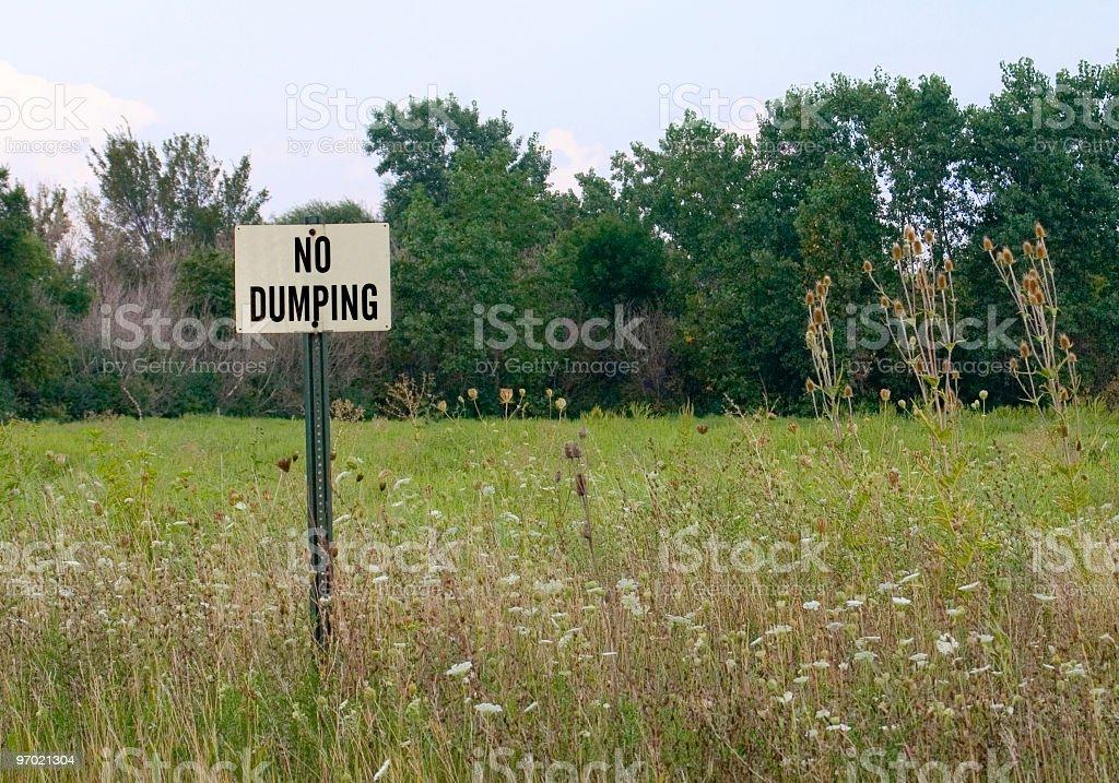 no dumping royalty-free stock photo