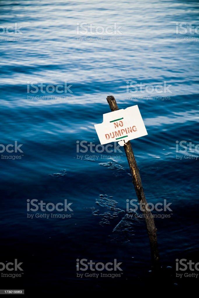 No Dumping sign royalty-free stock photo