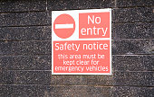 No entry area keep clear for emergency vehicles uk