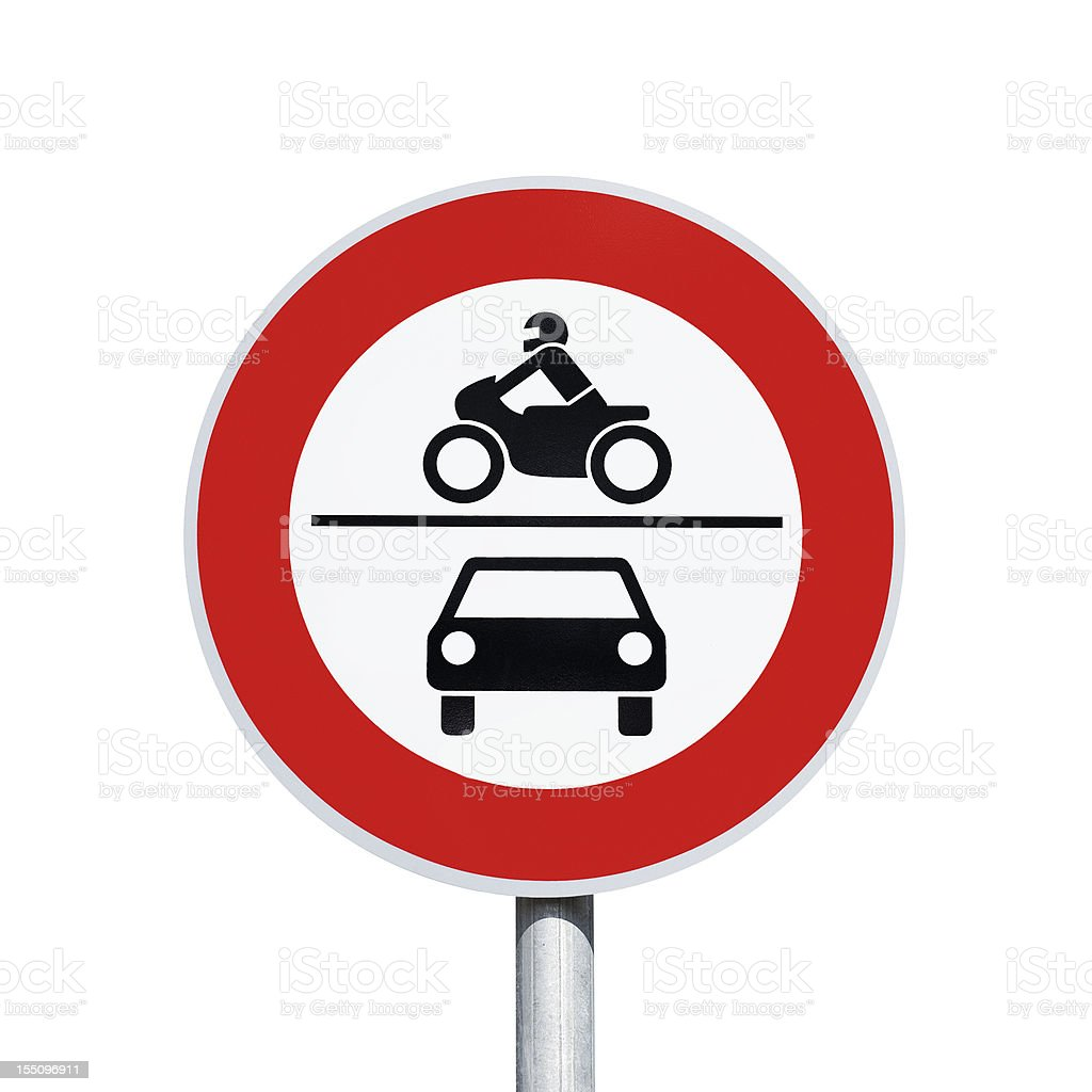No entry for cars and motorbikes - road sign royalty-free stock photo