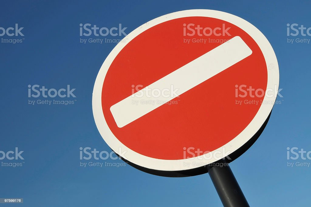 No Entry Road Sign royalty-free stock photo