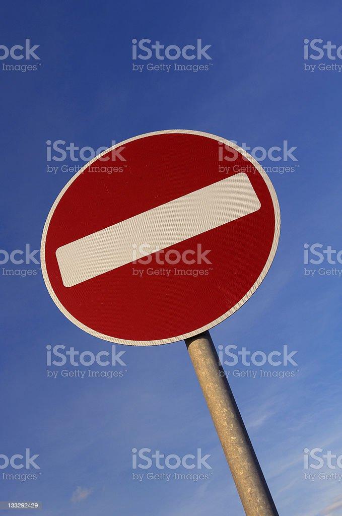 no entry warning sign on uk road royalty-free stock photo