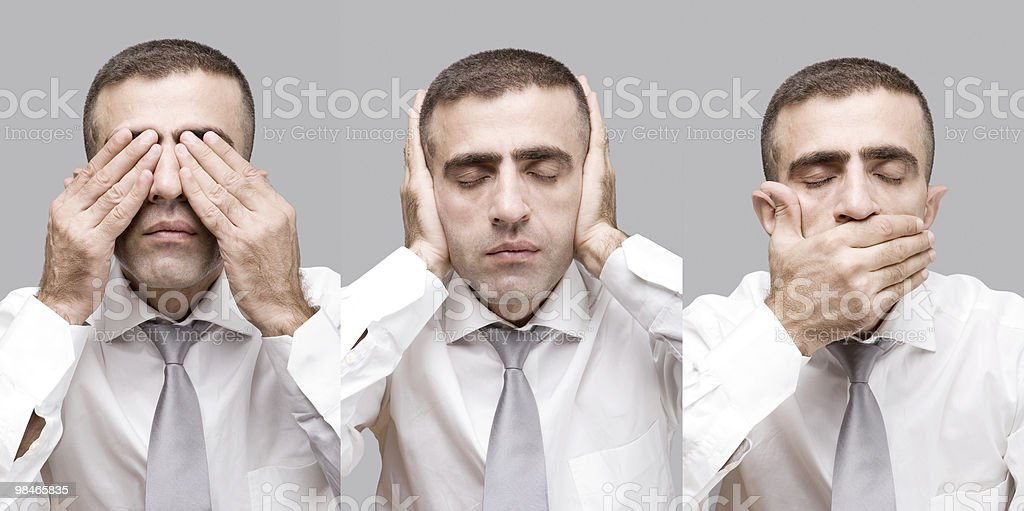 No evil (male version) royalty-free stock photo