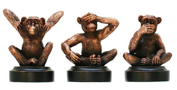 No Evils Hear no evil, see no evil and speak no evil hear no evil stock pictures, royalty-free photos & images
