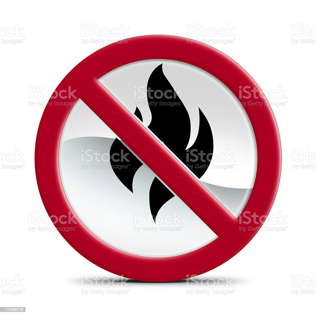 No Fire Allowed stock photo