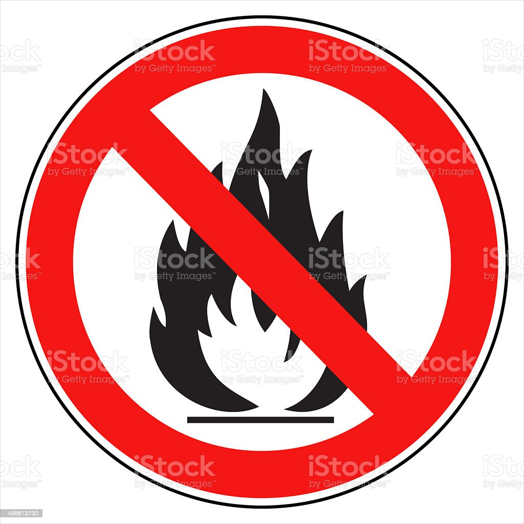 No fire! stock photo