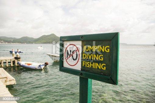 Cartello di divieto di pesca saltare o immersioni segnale for Illinois fishing license cost