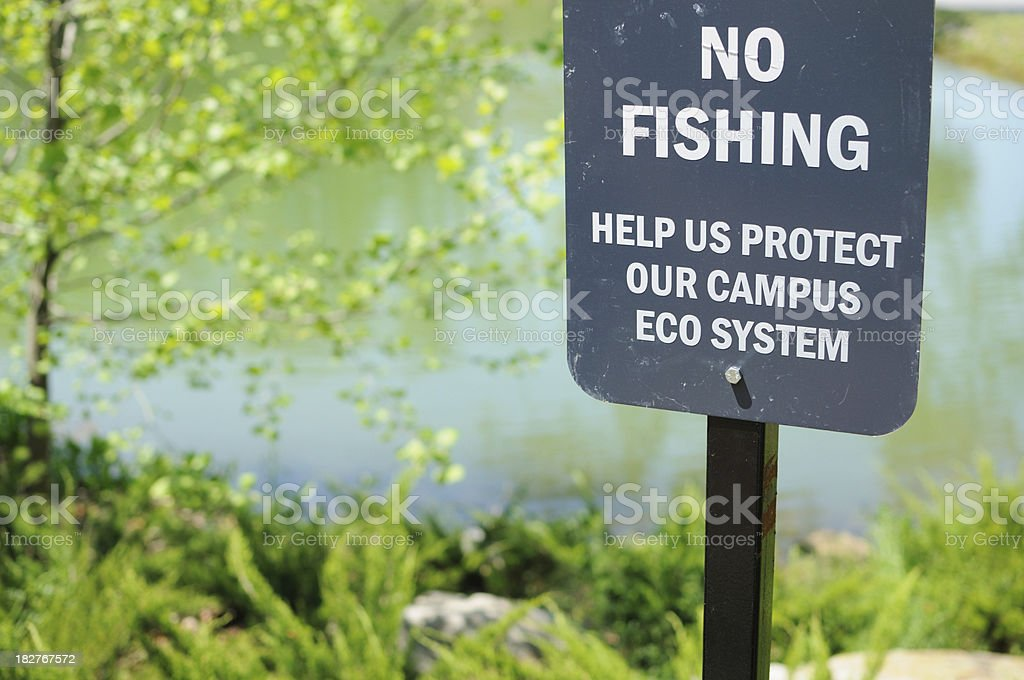 No fishing protect eco system stock photo