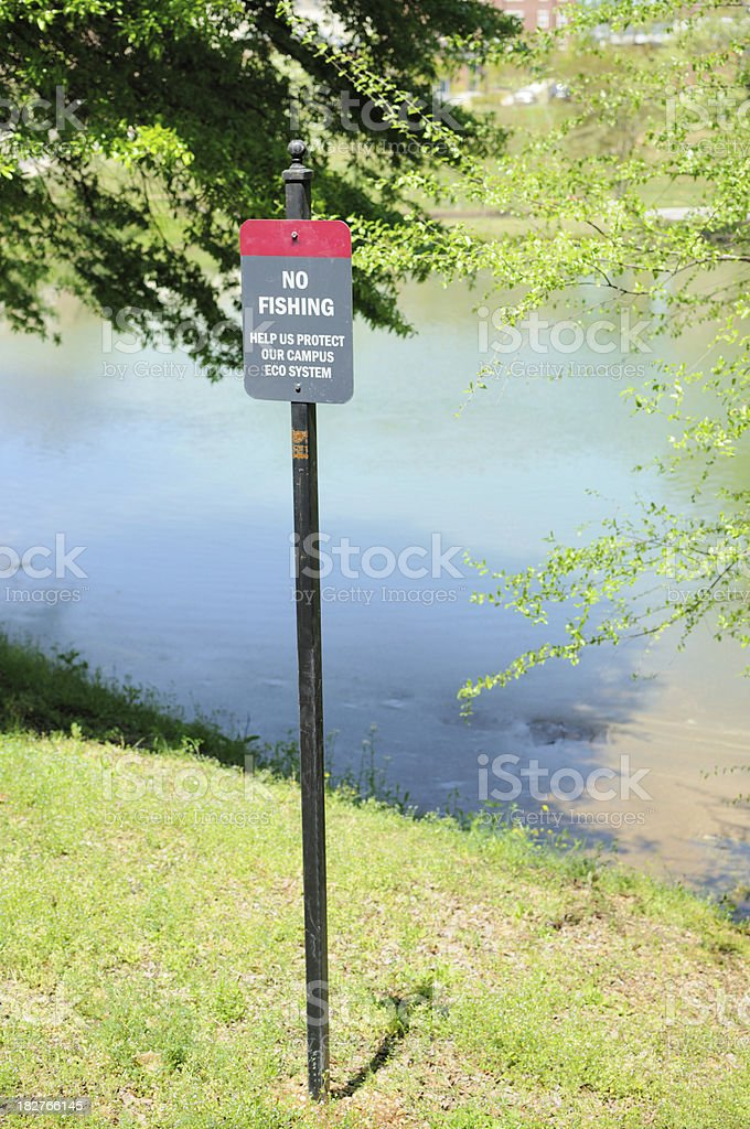 No fishing sign royalty-free stock photo