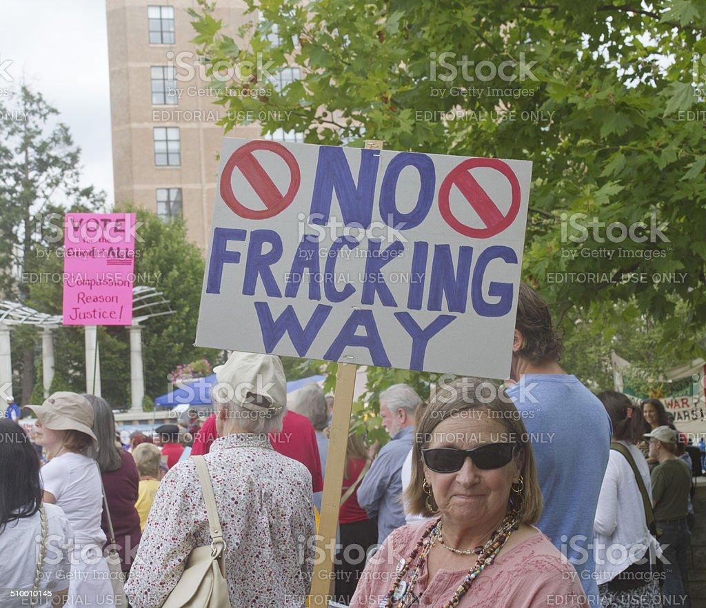 No Fracking Way stock photo