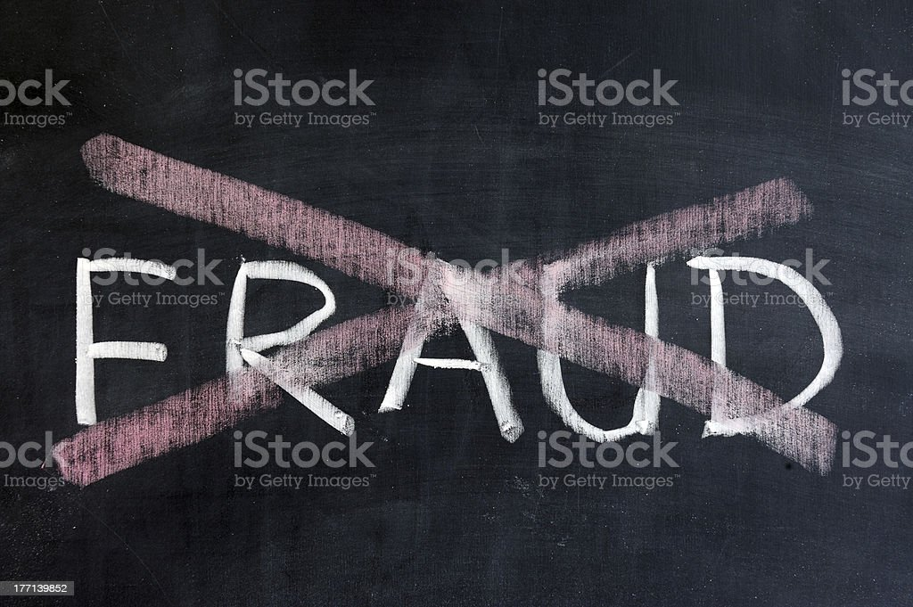 No fraud stock photo