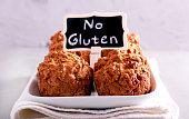 No gluten muffins on plate