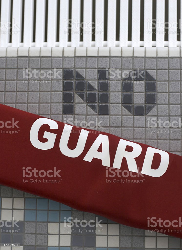No Guard on Duty stock photo