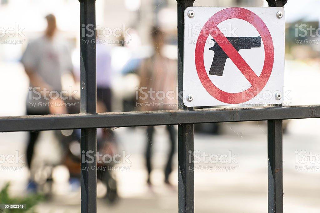 No Gun SIgn stock photo