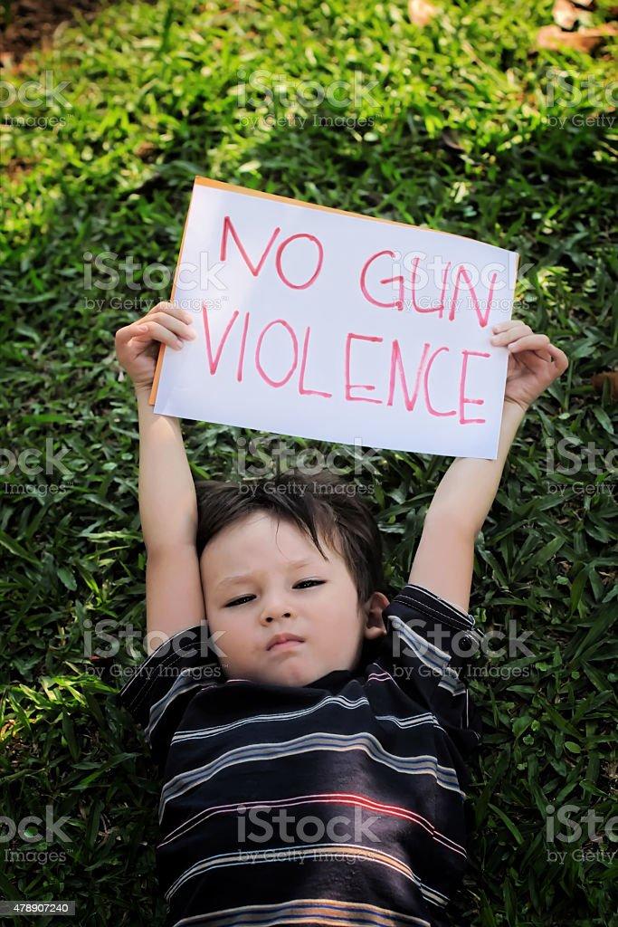 No Gun Violence stock photo