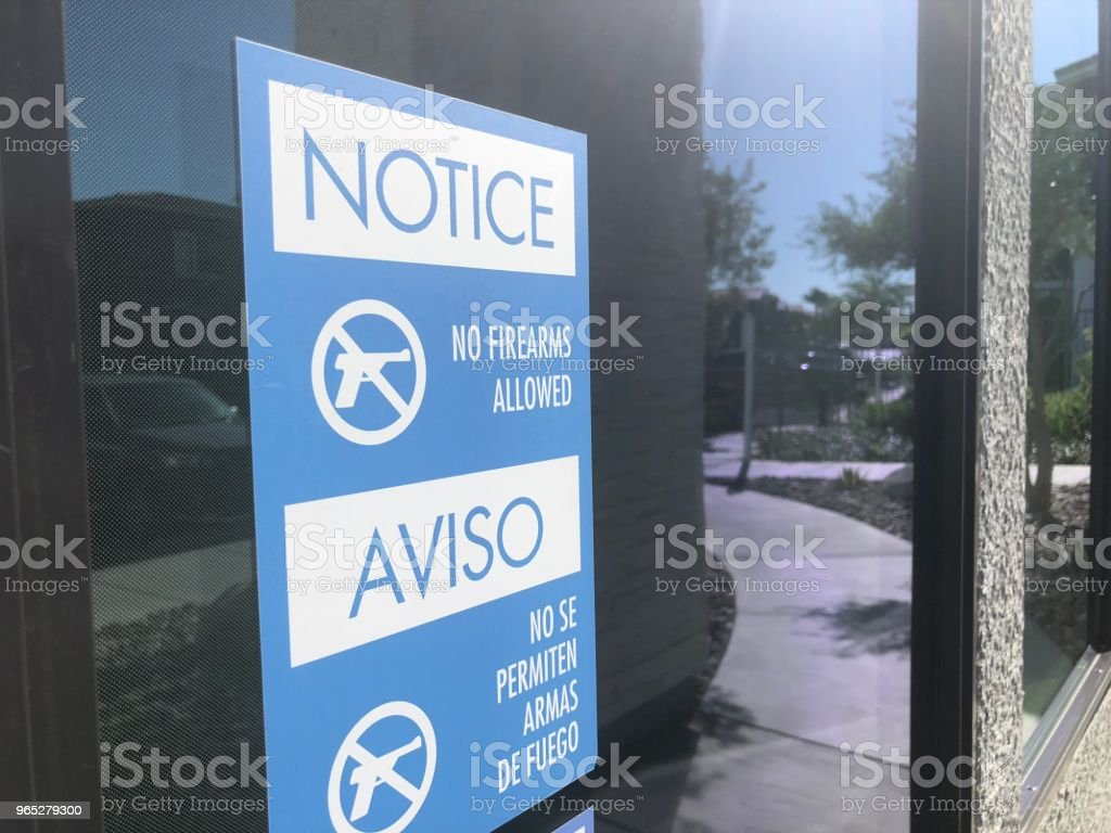 No gun window sign royalty-free stock photo