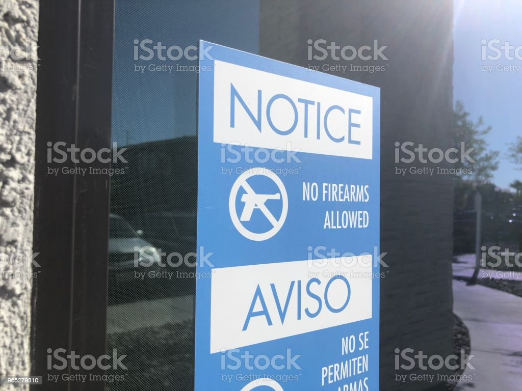 No gun window sign zbiór zdjęć royalty-free