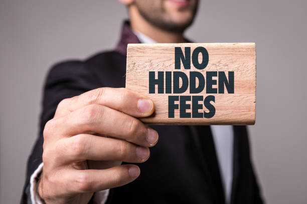 No Hidden Fees No Hidden Fees sign fee stock pictures, royalty-free photos & images