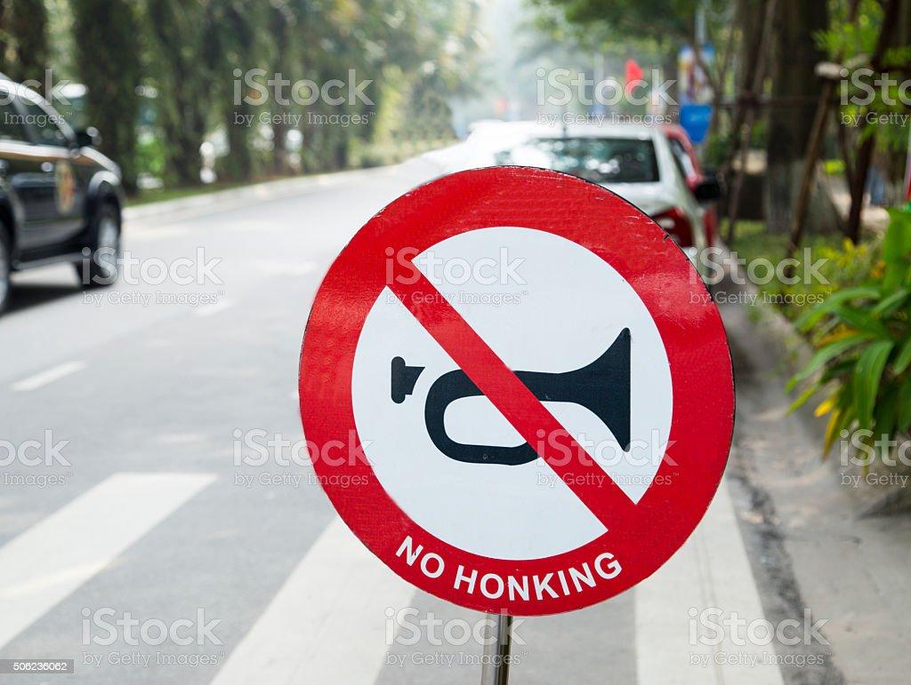 No honking stock photo