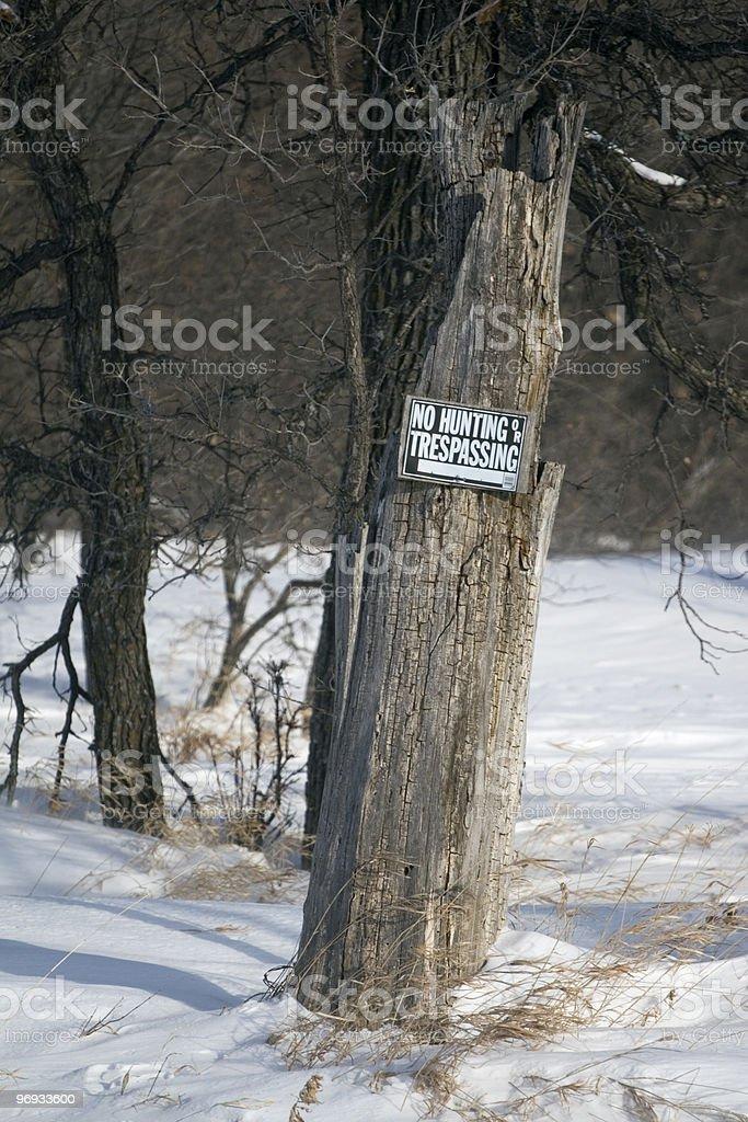 No Hunting and Trespassing royalty-free stock photo
