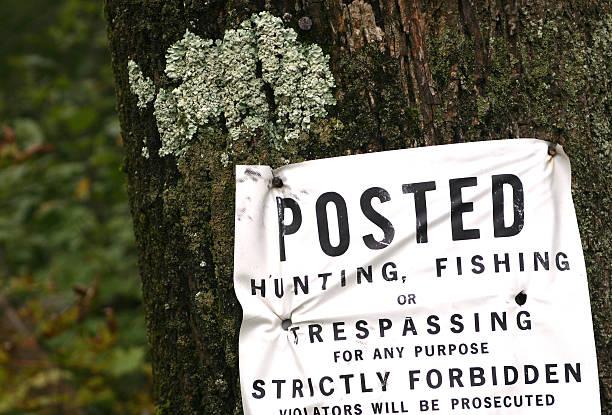 no hunting stock photo