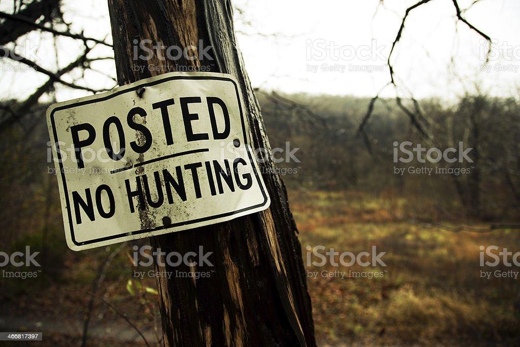 No Huntring royalty-free stock photo