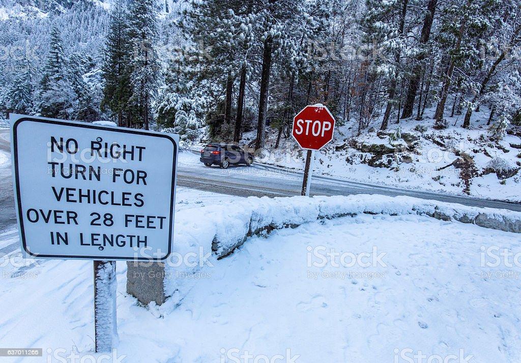 No Icey Turn. stock photo