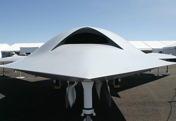 UFO? No, It's A Combat Drone stock photo