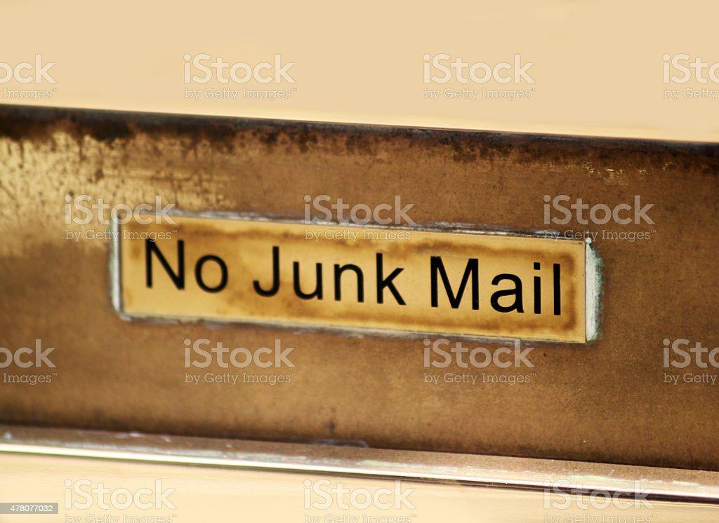 'No Junk Mail' stock photo