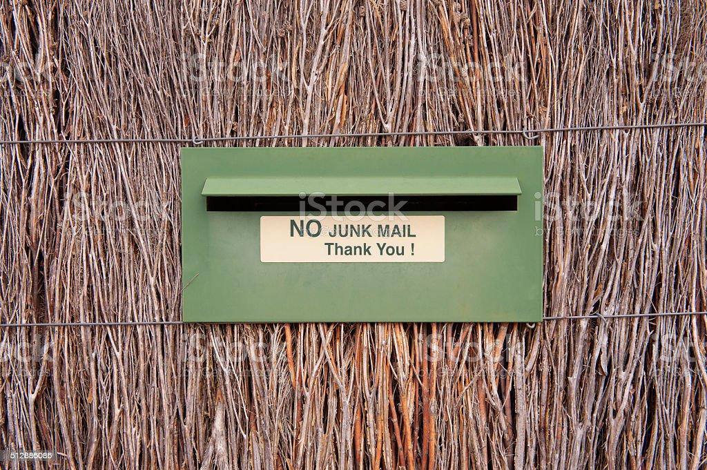 No Junk Mail stock photo