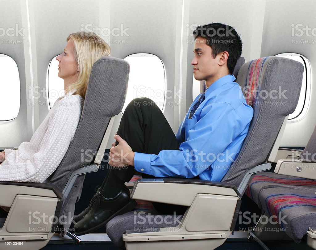 No Leg Room stock photo