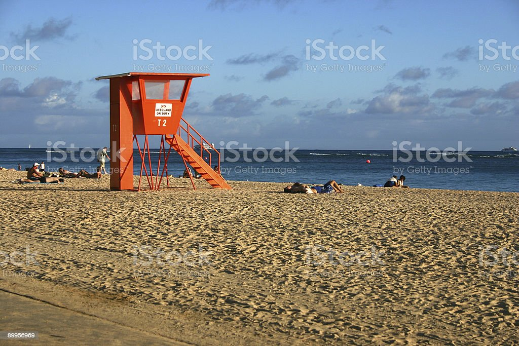 No Lifeguard On Duty royalty-free stock photo
