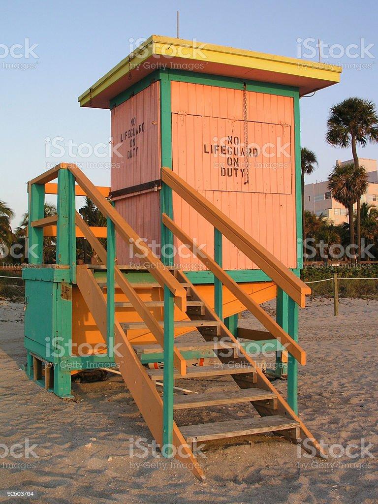 No lifeguard on duty royalty-free stock photo