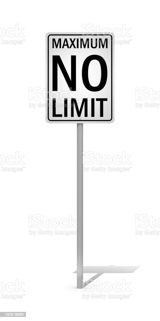 No Limit royalty-free stock photo