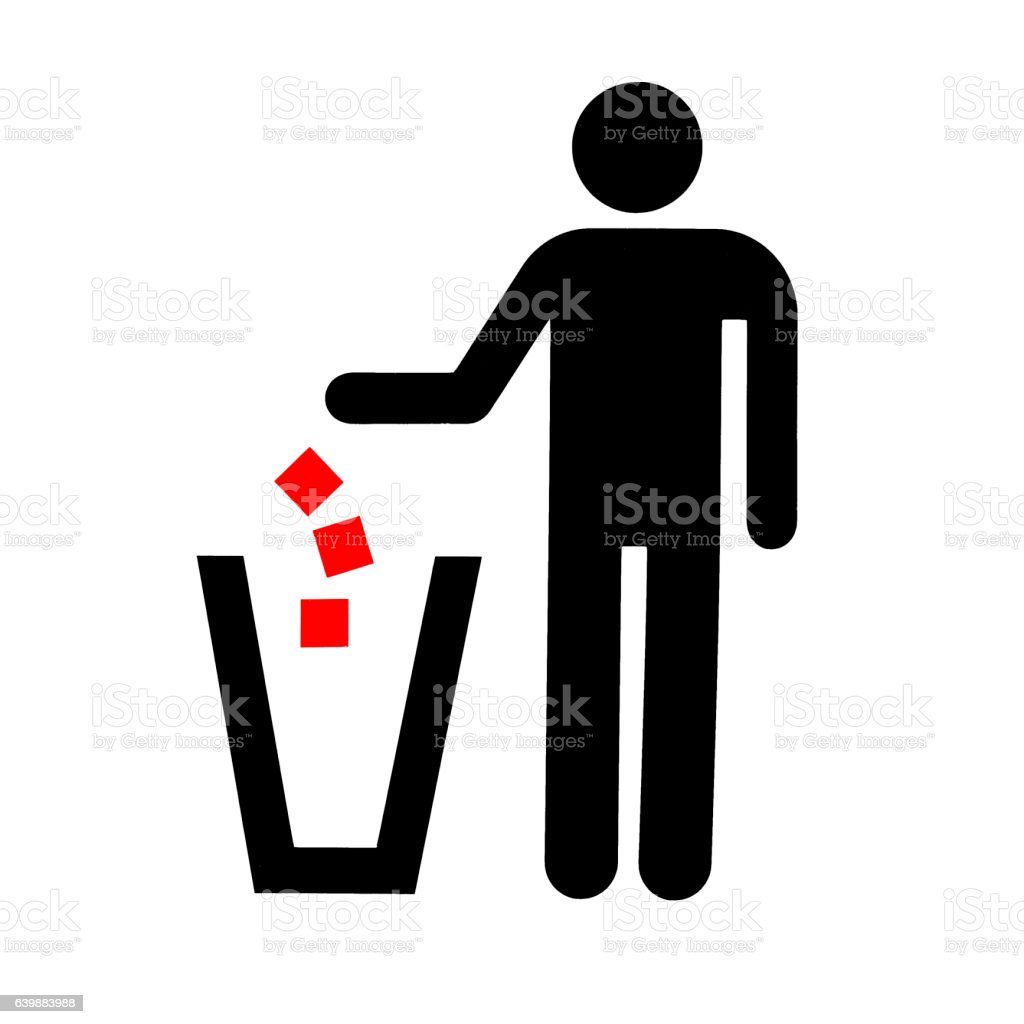 No Littering Sign On White Background Photo Stock Photo More