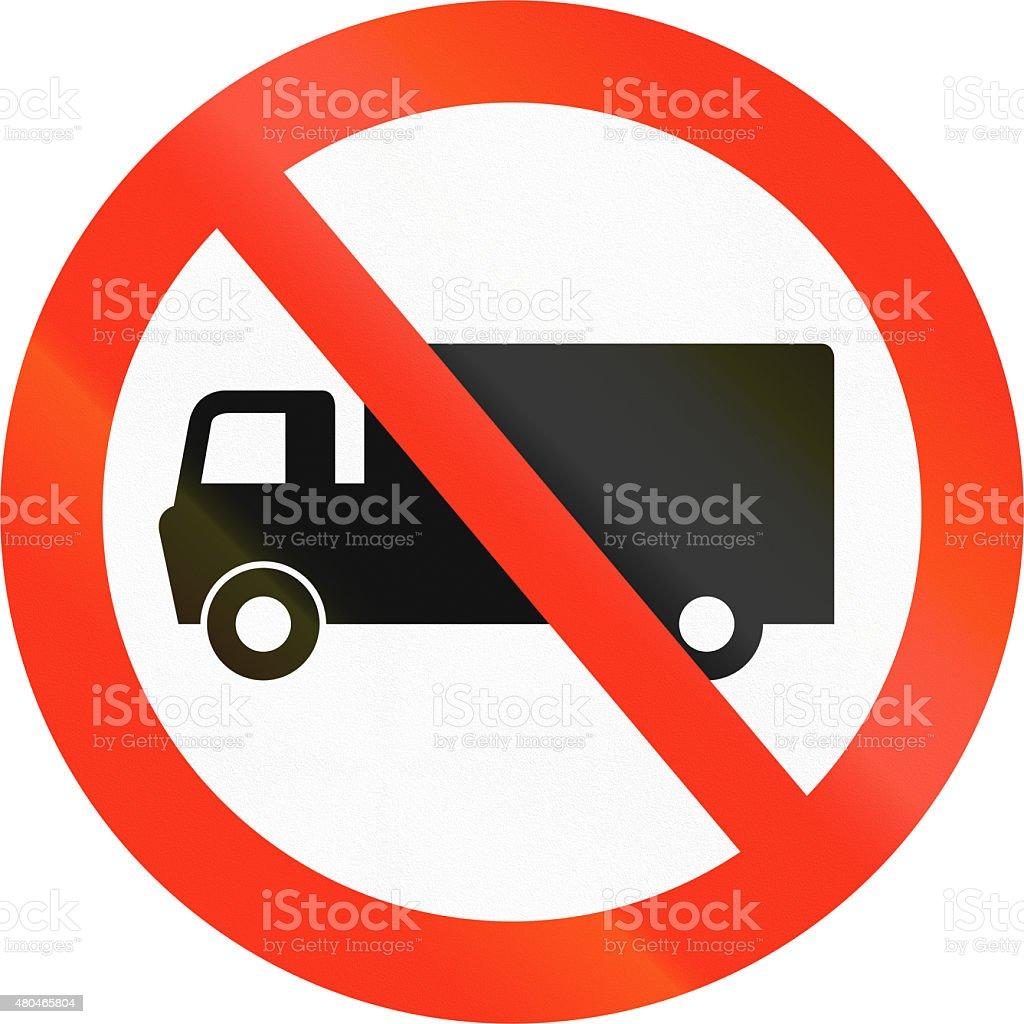 No Lorries in Bangladesh stock photo