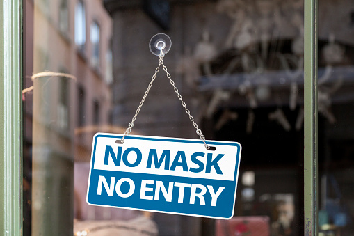 No Mask No Entry Stock Photo - Download Image Now