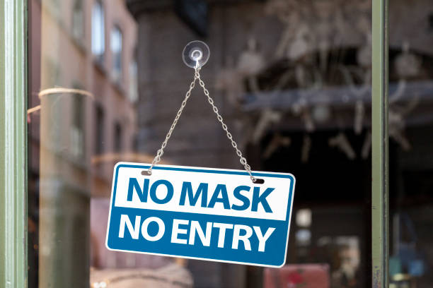 No mask No entry stock photo