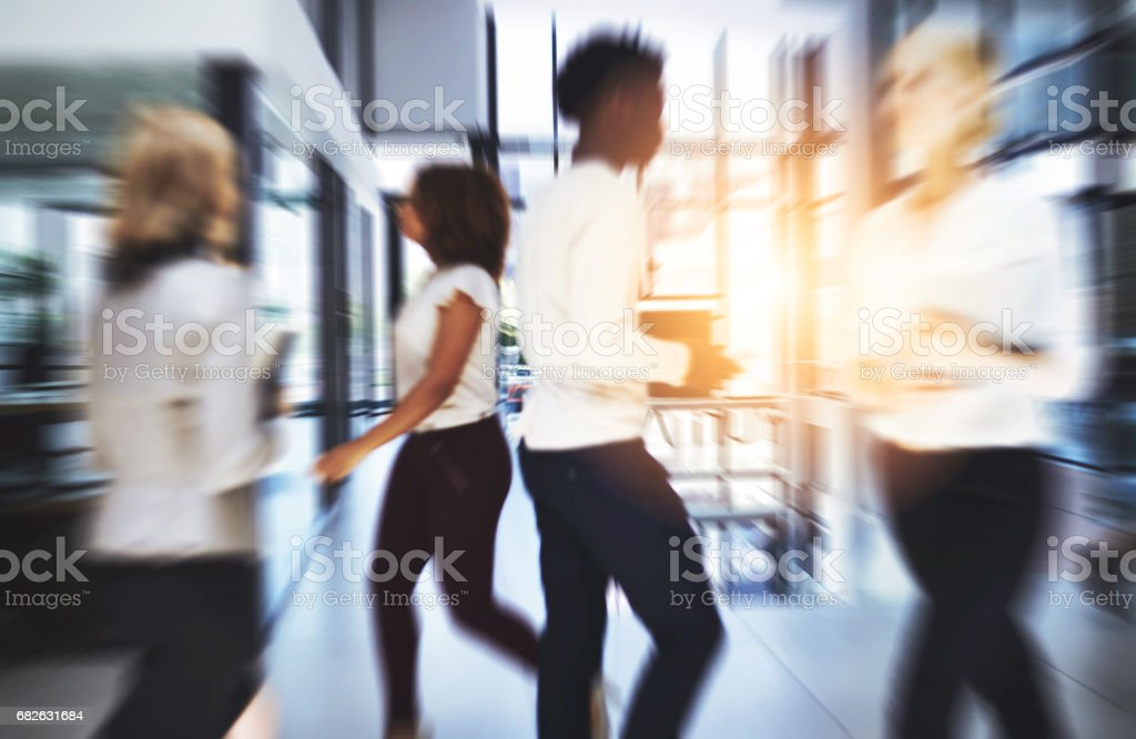No matter where they go, they're all headed for success stock photo