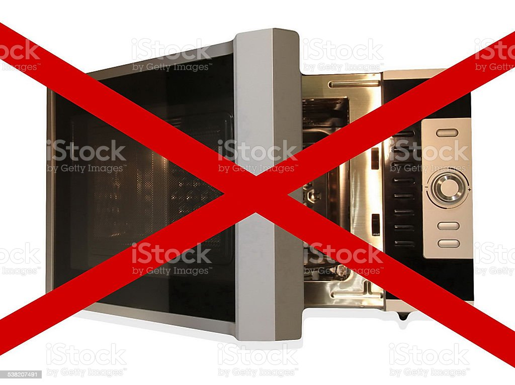 No microwave, sign stock photo